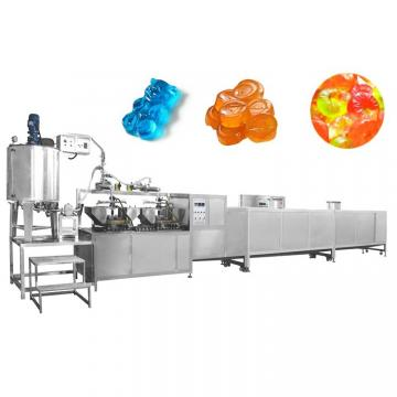 80kg PLC control full automatic jelly candy vitamins jelly gummy bear depositing production line gummy candy machine